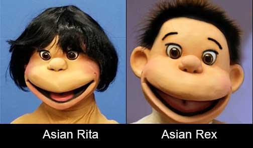 Rex and Rita Kid Puppets Asian