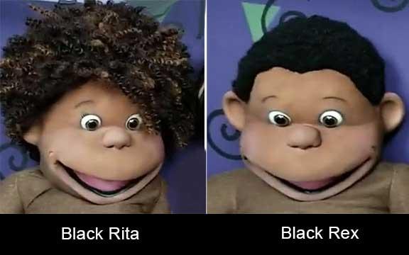 Rex and Rita Kid Puppets Black
