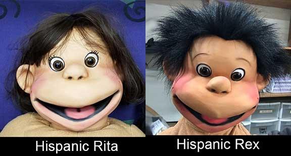 Rex and Rita Kid Puppets Hispanic