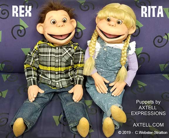 Rex and Rita Kid Puppets