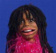 Black Hair Diva Puppet