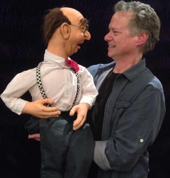 Ed Nerd Puppet on stage
