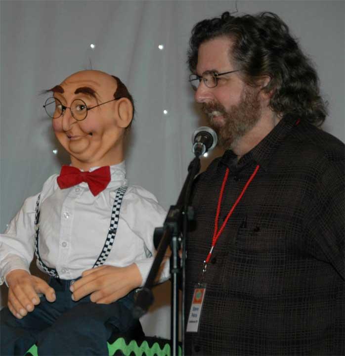 Steve Petra with Ed Nerd Pupept