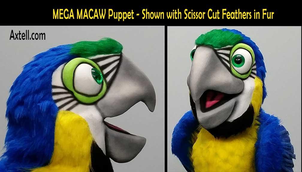 Mega Macaw Handcut Feathers