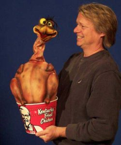 Fred the Fried Chicken puppet