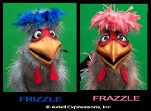 Frizzle & Frazzle Chicken Puppets