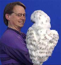 Snowy Owl Puppet Back