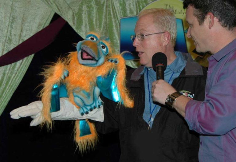 Mark Wade with his Terry Dactyl Puppet
