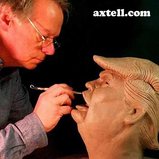 Sculpting Trump