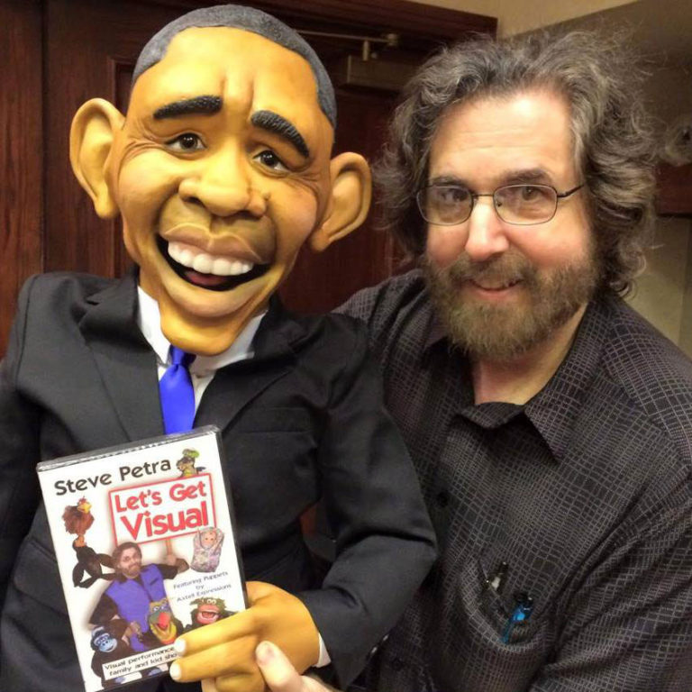Steve Petra with Obama
