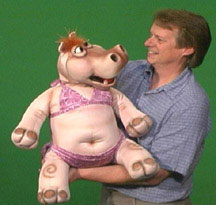 Dolly the Hippo Puppet
