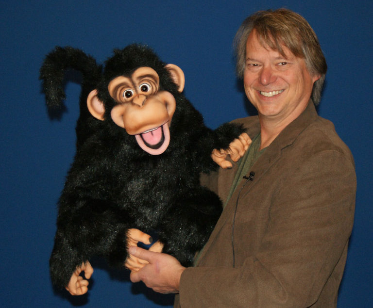 Steve Axtell with Cheeky Monkey
