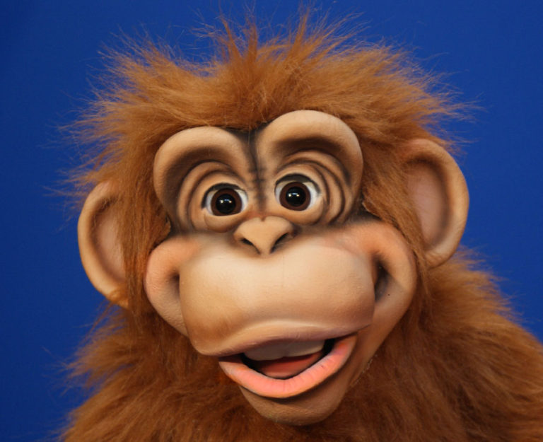 Orange Cheeky Monkey Puppet