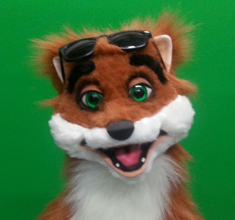 Rocky Fox Puppet Glasses Up 3