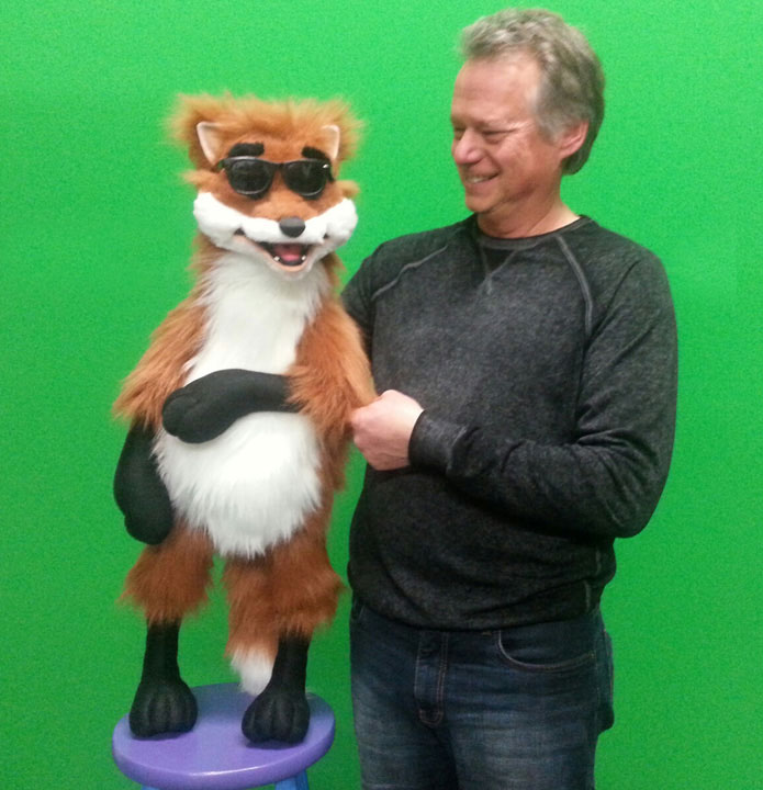 Rocky Fox Puppet with Steve