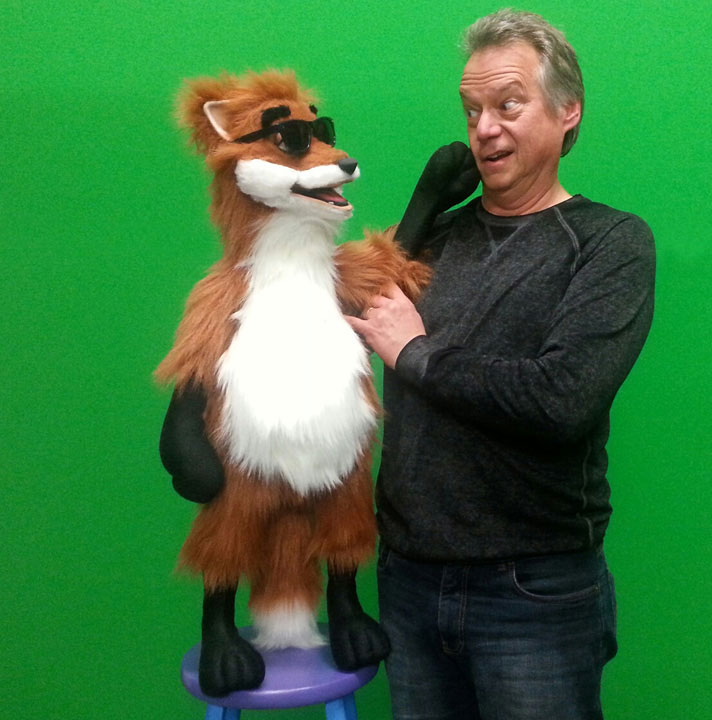 Rocky Fox Puppet with Steve 2