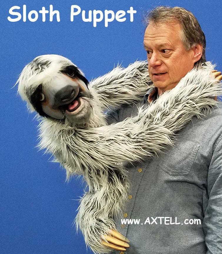 Sloth Puppet Lean