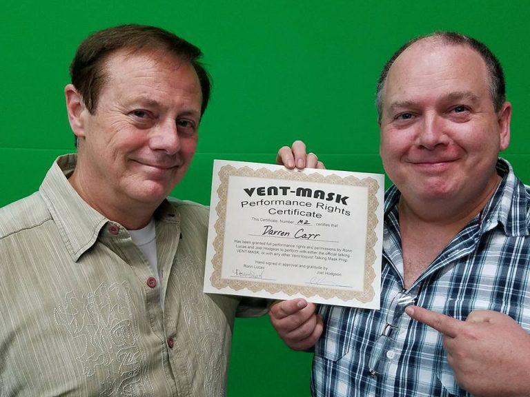 Darren Vent Mask Certificate