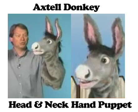 Half Body Donkey Puppet by Axtell Expressions