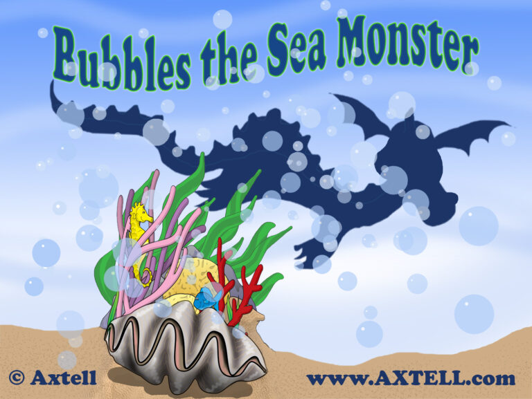 Bubbles the Sea Monster Art by Axtell Expressions