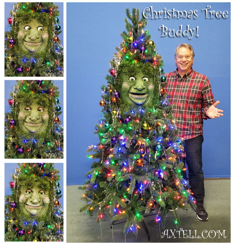 Animatronic Christmas Tree Buddy by Axtell Expressions