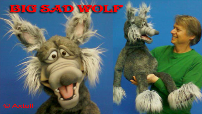 Big Sad Wolf Puppet by Axtell Expressions