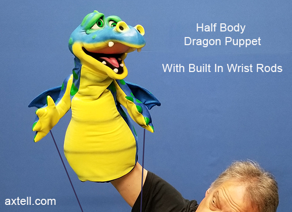 Half Body Dragon Puppet with Rods
