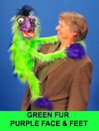 Hang On Monster Puppet - Green Fur