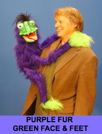 Hang On Monster Puppet - Purple Fur