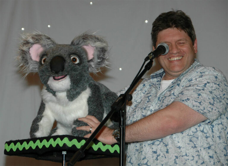 John Kimmons with Koala Puppet