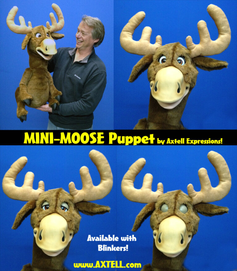 Mini Moose Puppet by Axtell Expressions