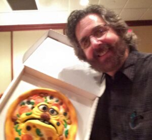 Steve Petra with the Pizza Boy