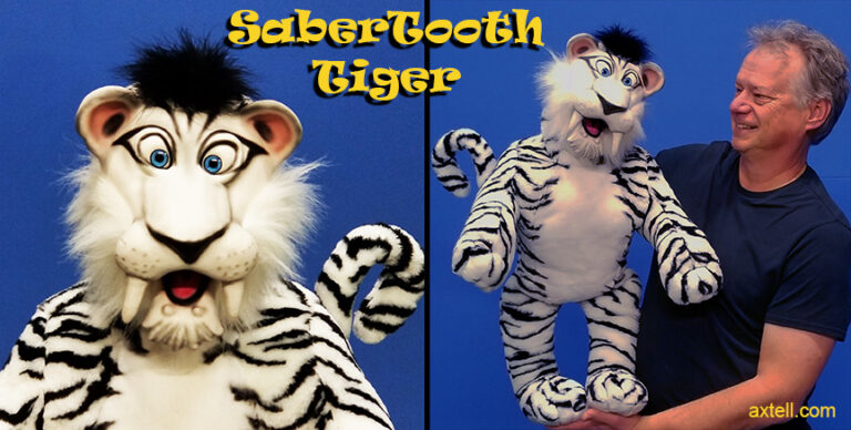 Sabertooth Tiger Puppet by Axtell Expressions