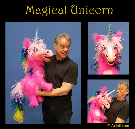 Pink Unicorn Puppet by Axtell Expressions