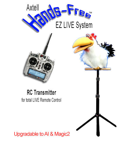 Hands-Free Cluck the Chicken EZ LIVE System