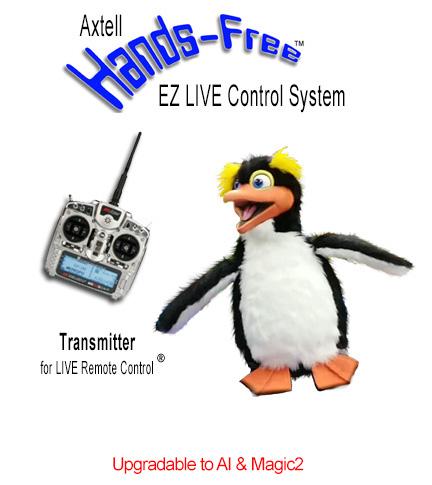 Animatronic Hands-Free Penguin EZ LIVE System