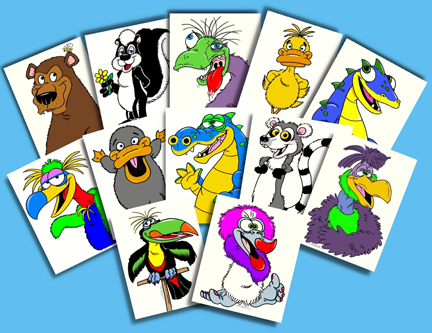 Axtell Magic Coloring Book Pages