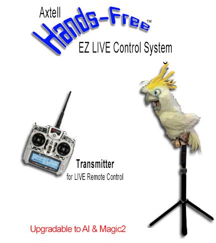 Animatronic Hands-Free Mega Cockatoo EZ LIVE System
