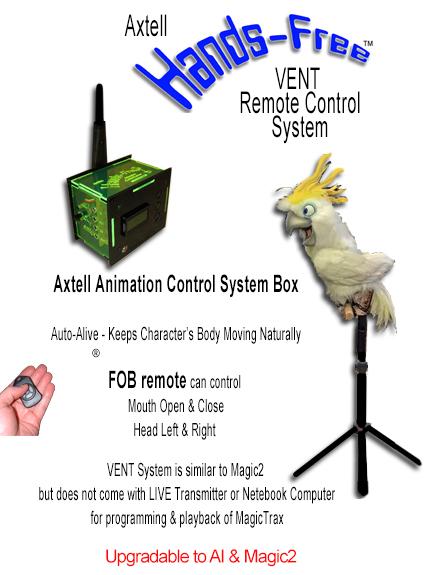 Animatronic Hands-Free Mega Cockatoo VENT System