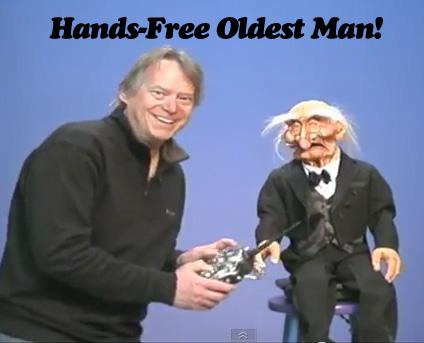Hands-Free Oldest Man