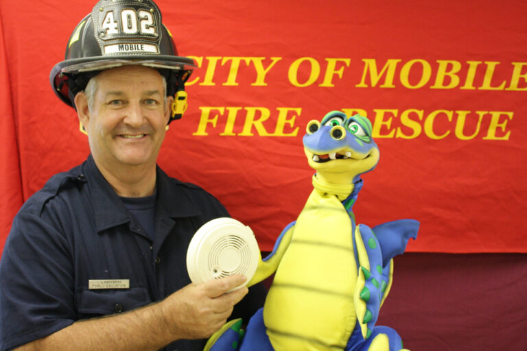 Fire Program - Kent Landsberg with Dusty the Dragon