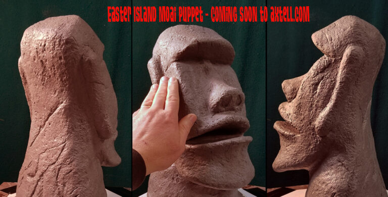 Easter Island Moai Puppet by Axtell Expressions