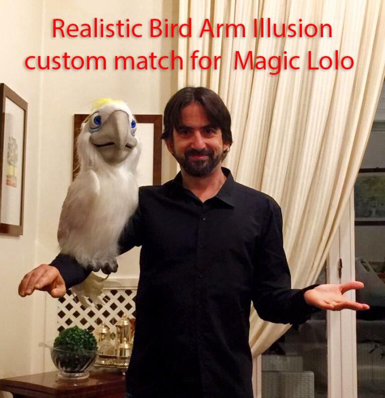 MAgic Lollo with his Realistic Bird Arm Illusion