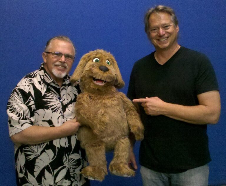 David Ebel picking up the first Shaggy Dog