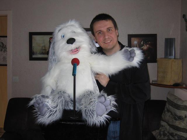 Bernard Syms with his Sheepdog Puppet