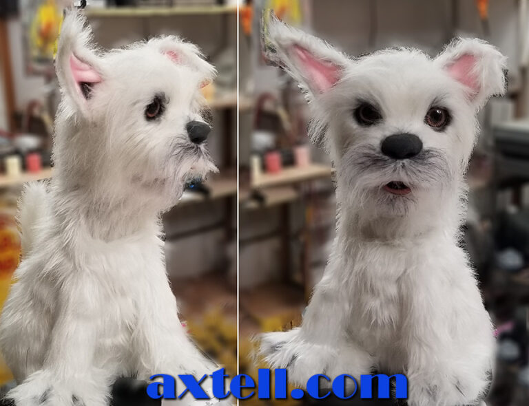 Toto Terrier Dog Puppet with White Fur