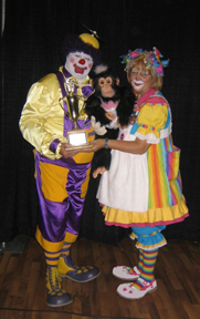 Dotty the Clown and her ape