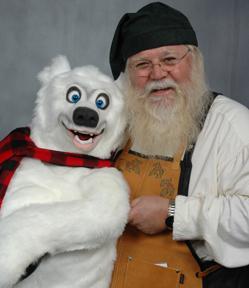 Santa Tom Myers and Axtell Polar Bear