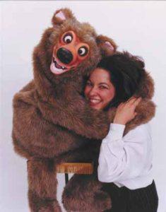 Sylvia Fletcher getting a Bear Hug!