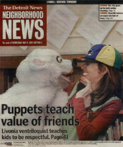 Vikki Gasko with Polar Bear Front page news!